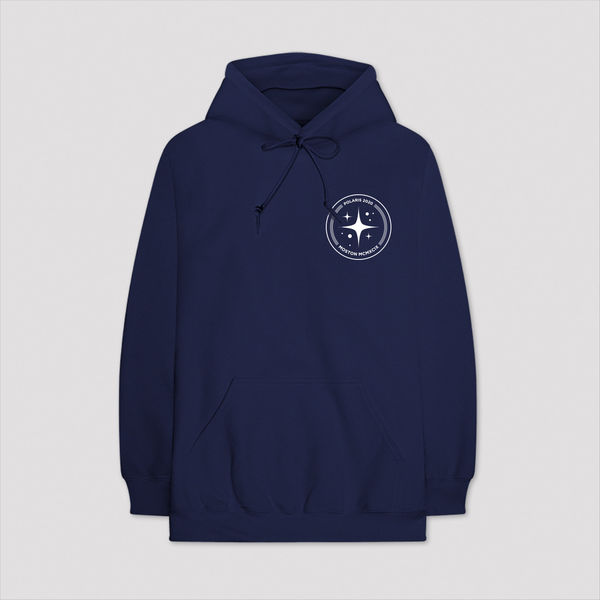 Aitch: BLUE CIRCLE LOGO HOODY