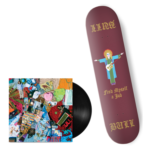 Bull: 'Find Myself A Job' Skateboard Deck + Vinyl bundle.