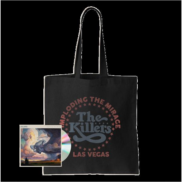 The Killers: ITM STAR LOGO TOTE BAG (BLACK) + CD