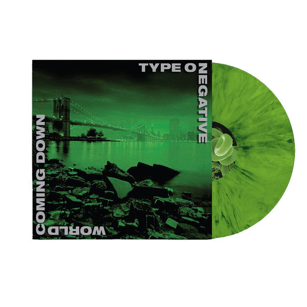 Type O Negative : World Coming Down: Limited Edition Green & Black Vinyl