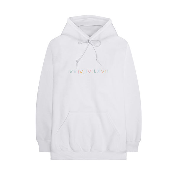 HRVY: Bubbles White Hoodie - S