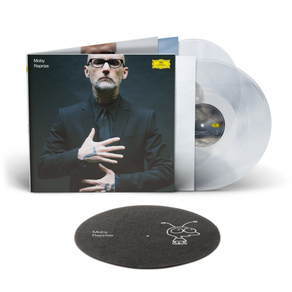 Moby: Reprise: Exclusive Deluxe 180gm Crystal Clear Vinyl 2LP + Little Idiot Slipmat