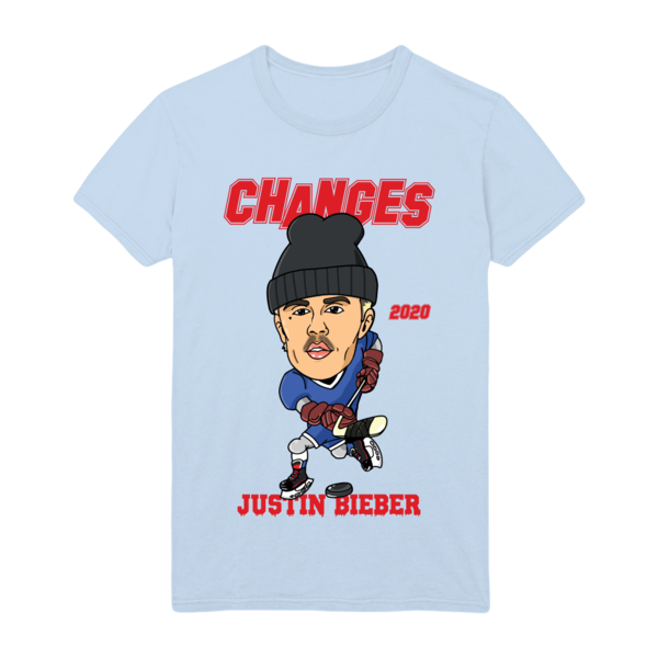 Justin Bieber: CHANGES HOCKEY DOODLE T-SHIRT - S