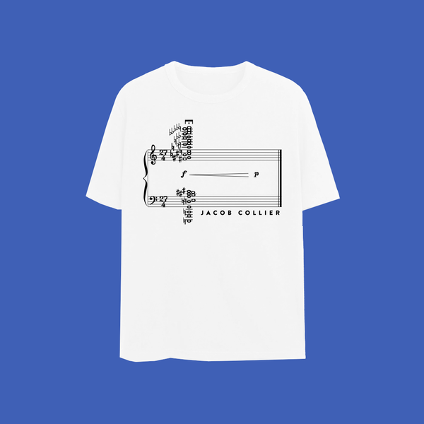Jacob Collier: 27 chord t-shirt LIMITED EDITION (white)
