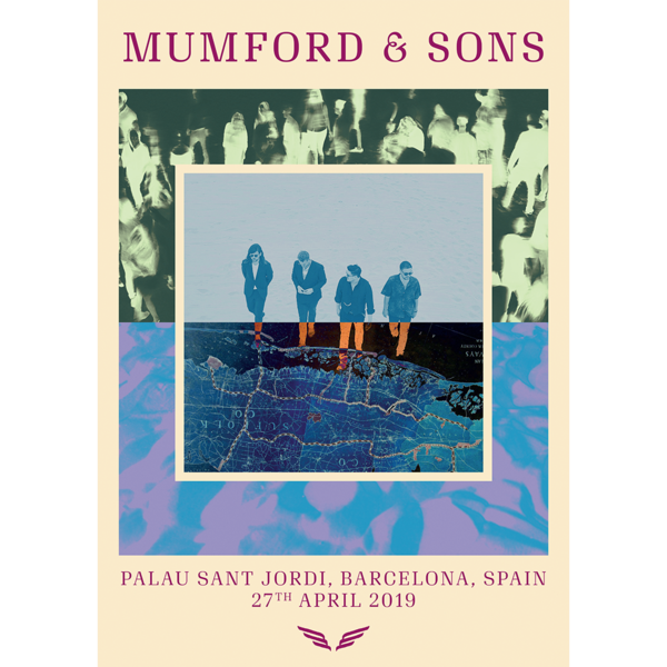 Mumford & Sons : European Delta Tour Print 2019 (Barcelona)