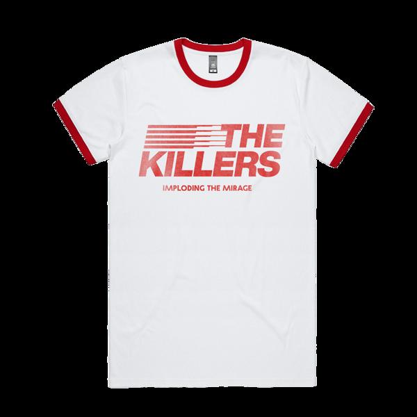 The Killers: ITM Stripe Ringer T-Shirt (Red)