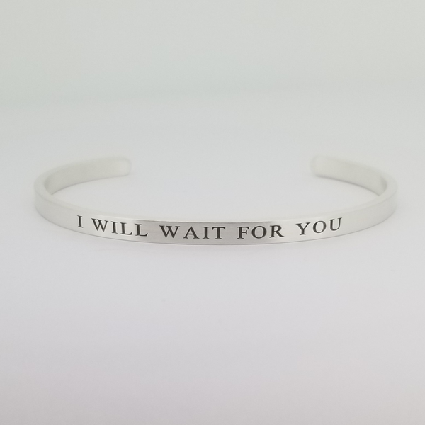 Mumford & Sons : I WILL WAIT STERLING SILVER CUFF BRACELET