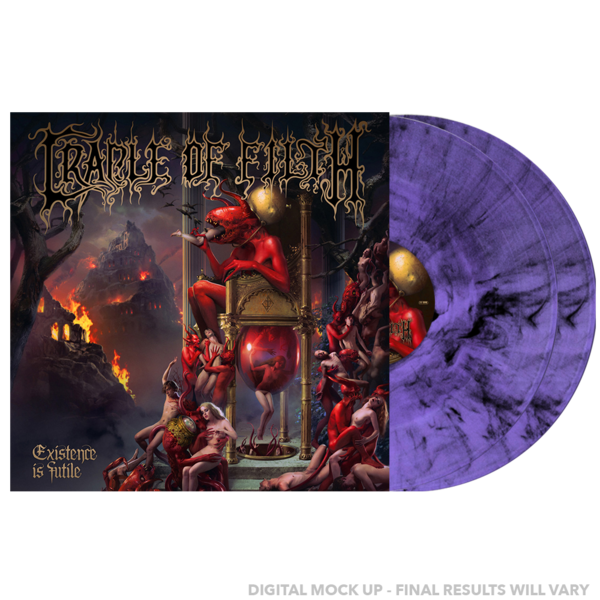 Cradle Of Filth: Existence Is Futile: UK exclusive Limited Edition Double Purple/Black Marbled Vinyl