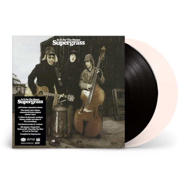 Supergrass: In It For The Money: Remastered Expanded Edition Black Vinyl LP  & White Vinyl 12