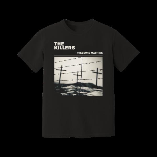 The Killers: Pressure Machine Barbed Wire Black T-Shirt