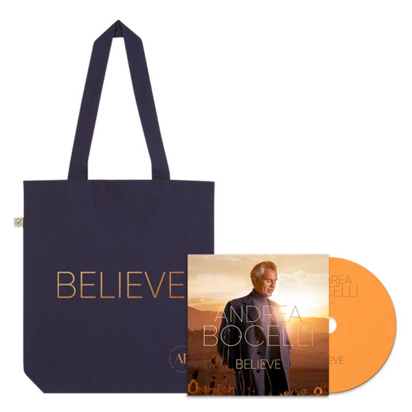 Andrea Bocelli: Believe CD & Tote Bundle