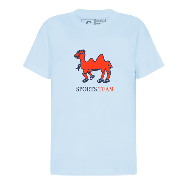 Sports Team: Camel Tee: Baby Blue