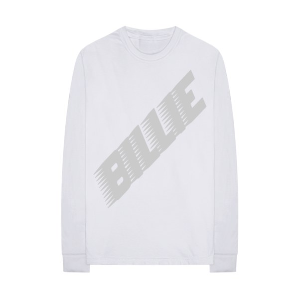 Billie Eilish: Racer Logo White Longsleeve