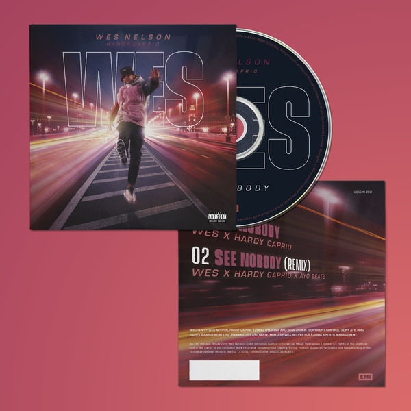 Wes Nelson: Limited Edition See Nobody CD Single