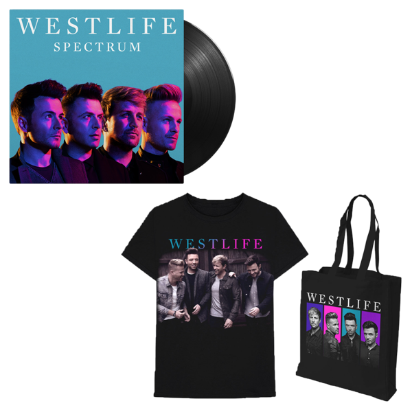 Westlife: Spectrum LP + Tee + Tote