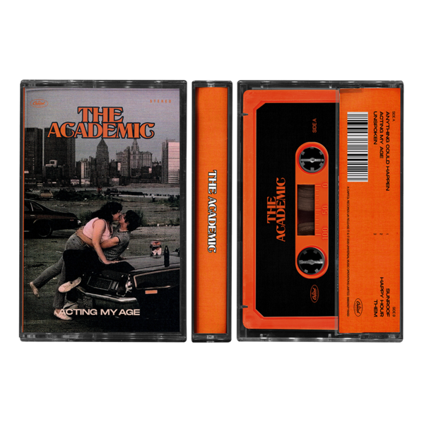 The Academic : Acting My Age Orange Cassette + Signed Card