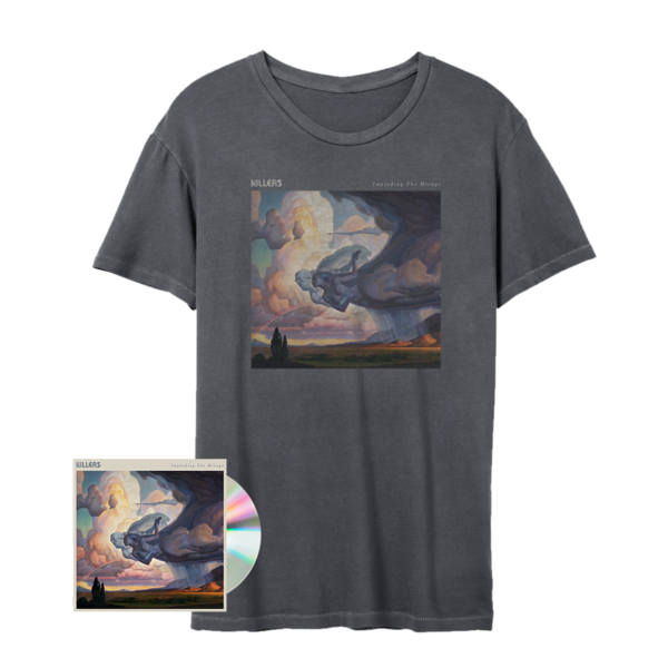 The Killers: Imploding the Mirage Cover Art T-Shirt (Grey) + CD