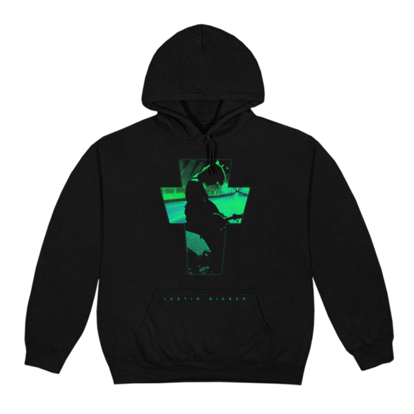 justin bieber: CROSS PHOTO HOODIE