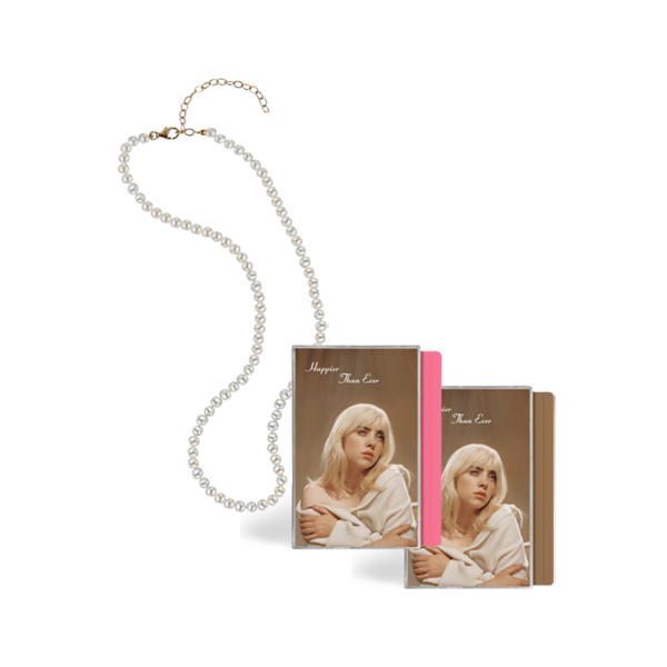 Billie Eilish: 'Happier Than Ever' Vegan Pearl Necklace + Cassette Bundle
