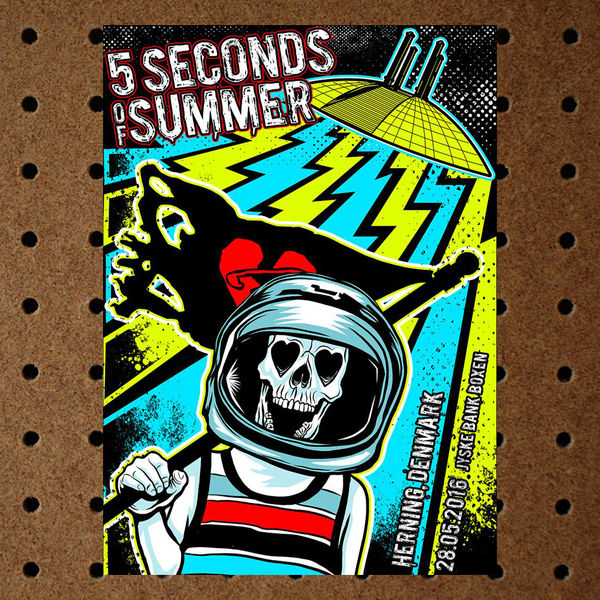 5 Seconds of Summer: Herning Denmark May 28th Event Litho
