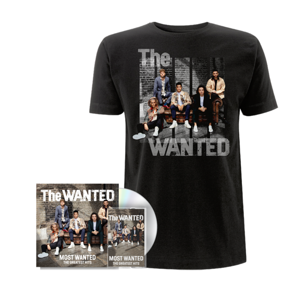 The Wanted: THE MOST WANTED: SIGNED DELUXE CD + CASSETTE + COVER TEE (BLACK)