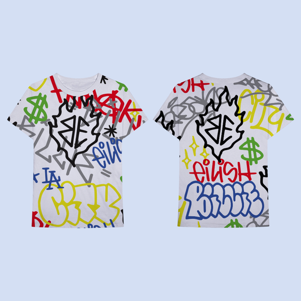 Billie Eilish: Billie Eilish x FreakCity Graffiti All Over Print SS Tee
