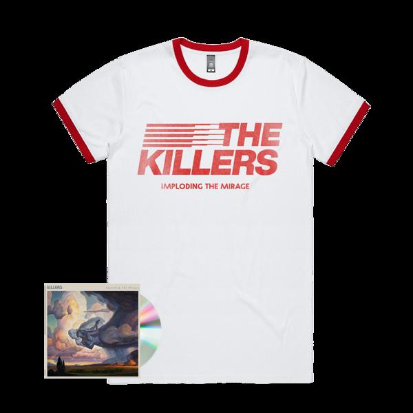 The Killers: ITM STRIPE RINGER T-SHIRT + CD