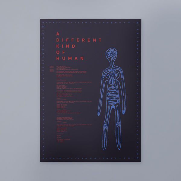 aurora: SIGNED A Different Kind of Human A3 poster