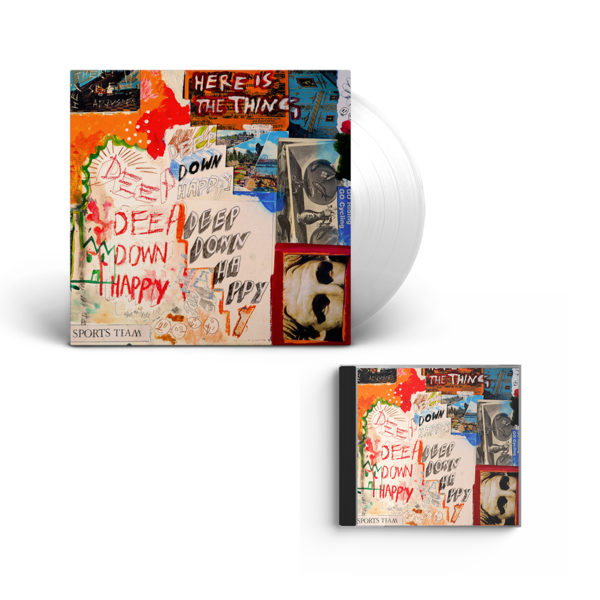 Sports Team: Deep Down Happy: Clear Vinyl + CD