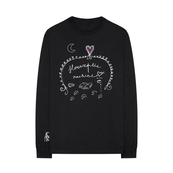 Florence + The Machine: Black Doodle Long sleeve - XXL