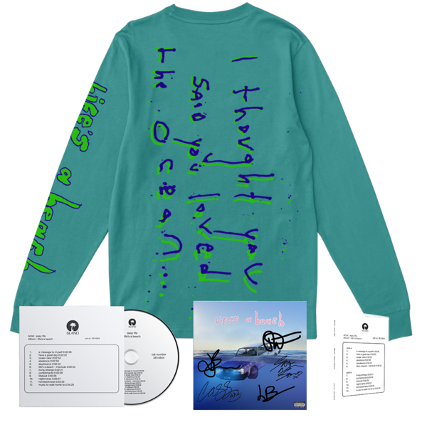 Easy Life: life's a beach: ocean view longsleeve bundle + signed artcard