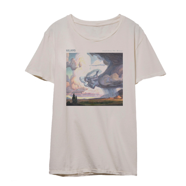 The Killers: Imploding the Mirage Cover Art T-Shirt (Beige)