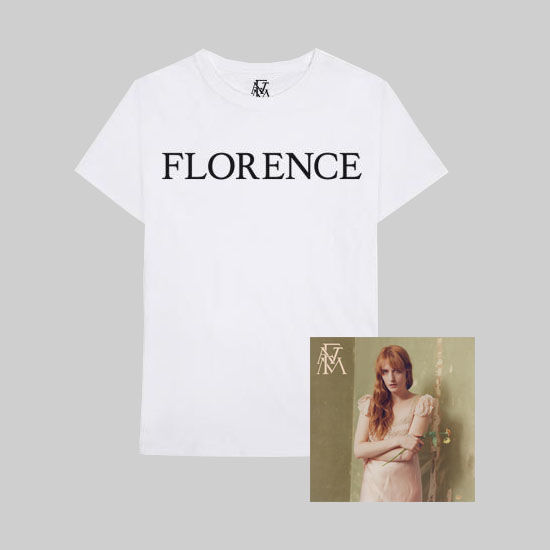 Florence + The Machine: Big Black Name T-Shirt + CD Bundle