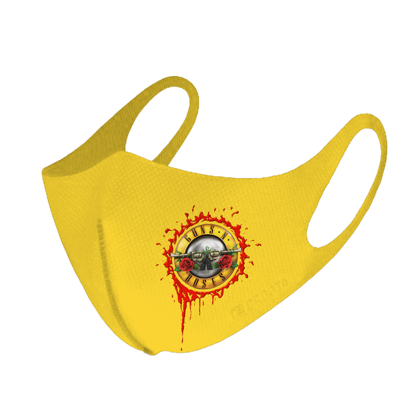Guns N' Roses: BLOODY BULLET LOGO YELLOW FACEMASK
