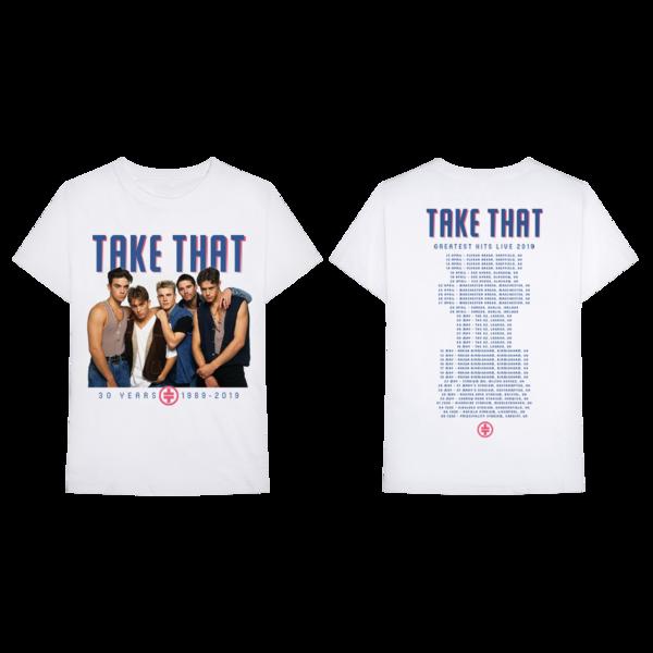 Take That: Retro Tour Tee White