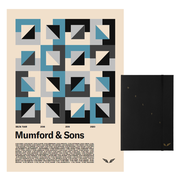 Mumford & Sons : DELTA DIARIES CD BOOK + DELTA TOUR SCREENPRINT