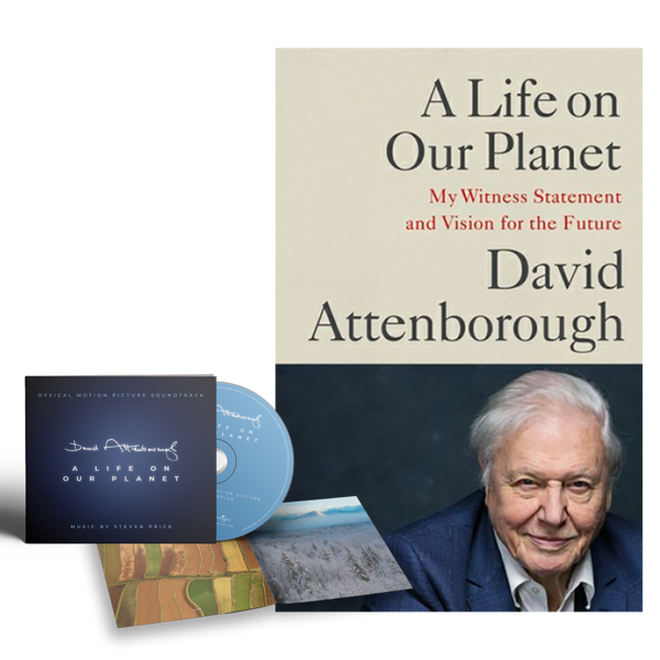 David Attenborough : A Life On Our Planet CD & Book Bundle