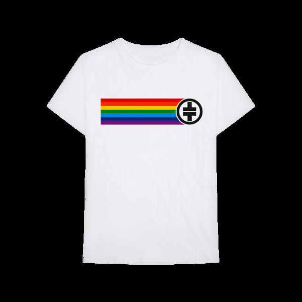 Take That: Rainbow Tee White
