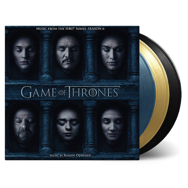 Original Soundtrack: Game Of Thrones Season 6: Blue, Gold + Clear Etched Vinyl