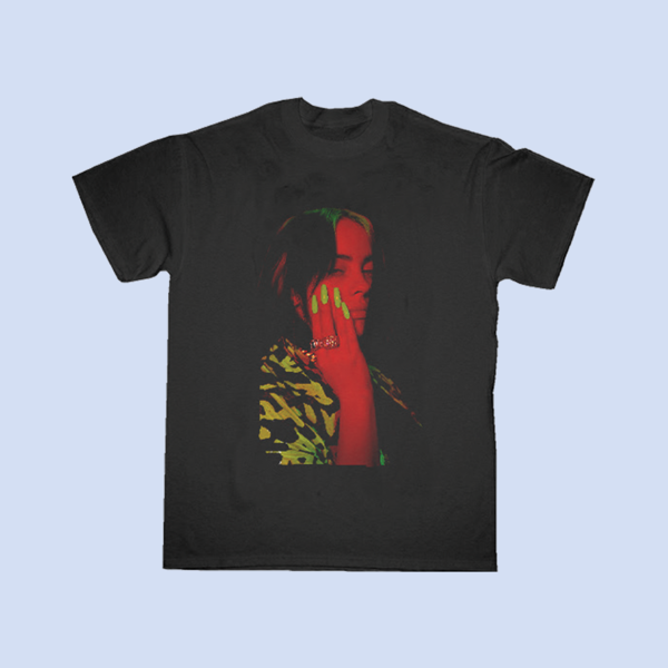 Billie Eilish: Stay home Black and Red Tour T-shirt – Proceeds Donated