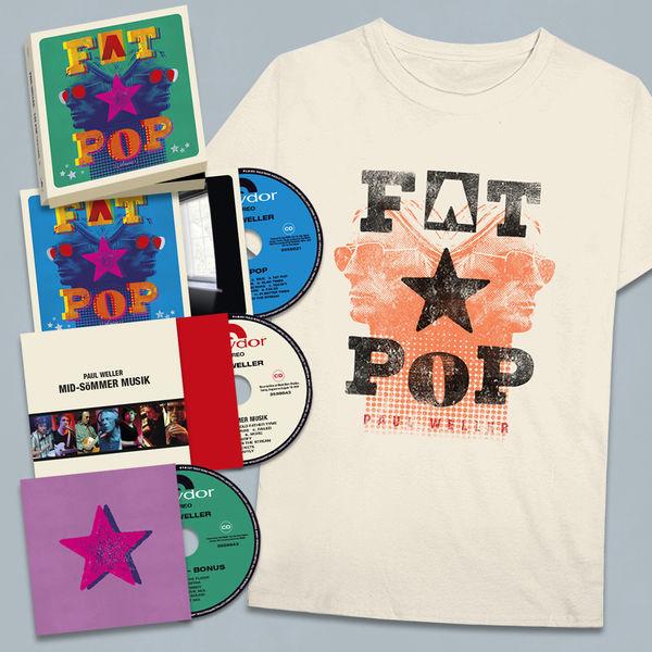 Paul Weller: Fat Pop T-Shirt Merch Set