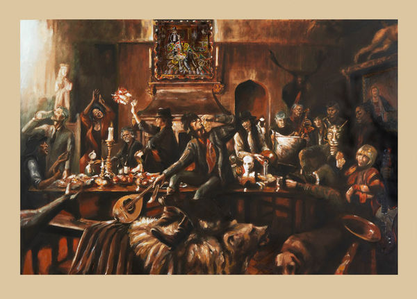 Ronnie Wood: BEGGARS BANQUET TODAY I (Large Size)