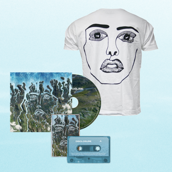 Disclosure: White Classic Face Tee, CD + Cassette