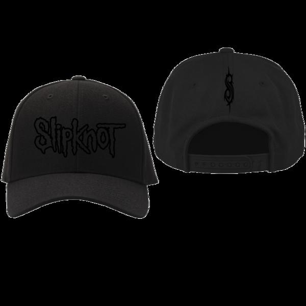 Slipknot: SLIPKNOT BLACK ON BLACK HAT