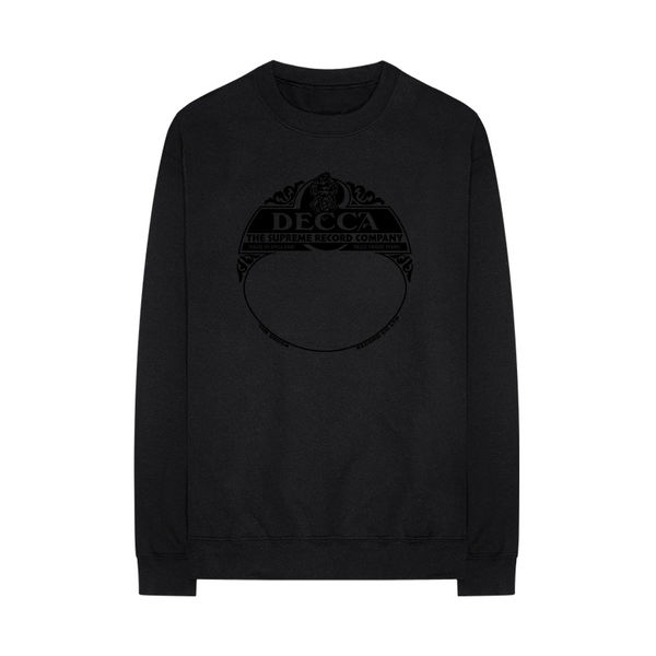 Various Artists: DECCA SUPREME range black sweatshirt - S