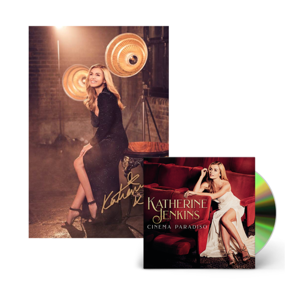 Katherine Jenkins: Cinema Paradiso CD & Signed Print bundle
