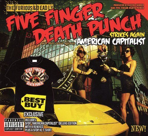Five Finger Death Punch: American Capitolist: Swamp Green Coloured Gatefold Vinyl