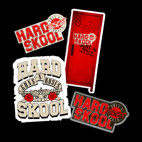 Guns N' Roses: Hard Skool Sticker Set