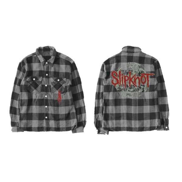 Slipknot: Slipknot Grey Flannel Shirt
