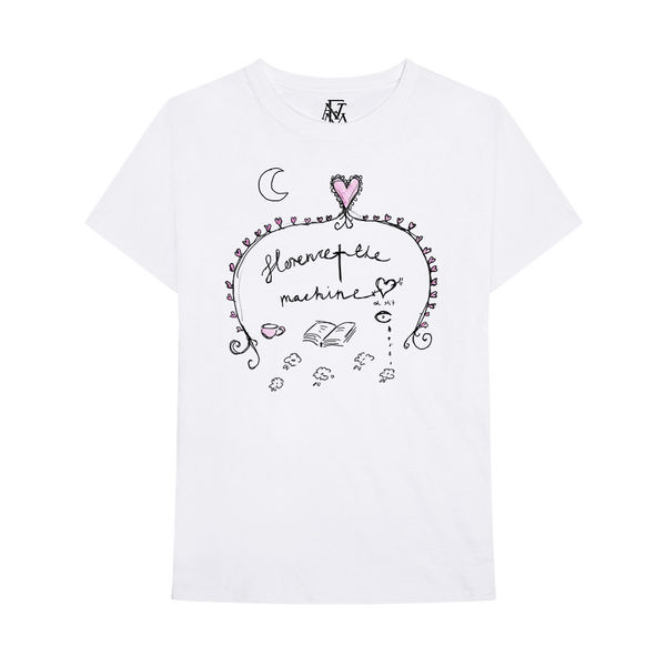 Florence + The Machine: White Doodle tee - XL